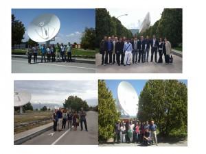 Gli studenti del Master in visita al Centro Spaziale del Fucino, Telespazio